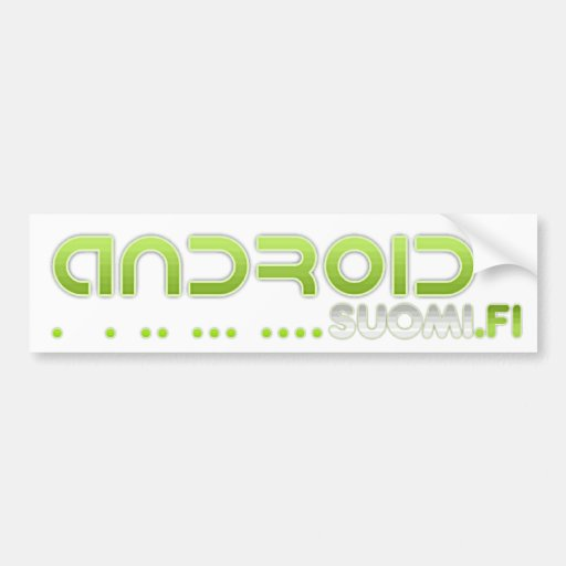 Androidsuomi.fi - Puskuritarra Pegatina De Parachoque