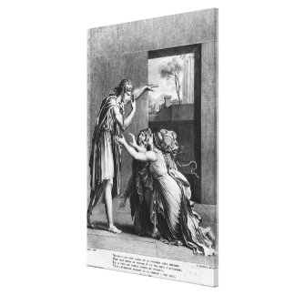 Andromache at the feet of Pyrrhus Canvas Prints