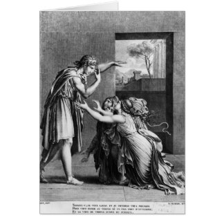 Andromache at the feet of Pyrrhus Greeting Card