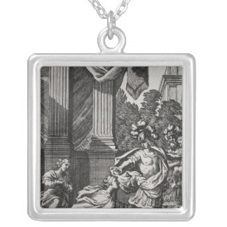 Andromache at the Feet of Pyrrhus Silver Plated Necklace