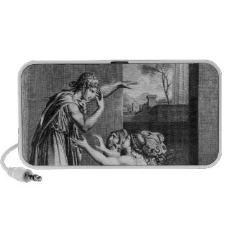 Andromache at the feet of Pyrrhus Portable Speakers