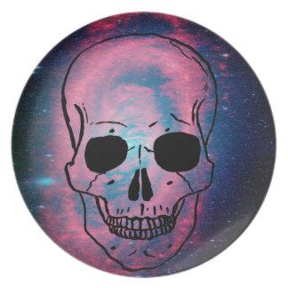 andromeda and skull dinner plate
