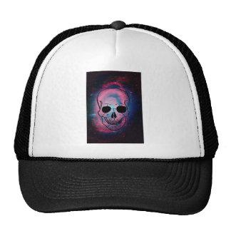 andromeda and skull trucker hat