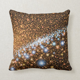 Andromeda Black Hole Blue Stars - Artist Concept Throw Pillow