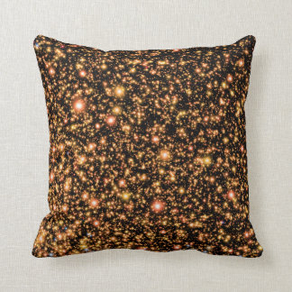 Andromeda Black Hole Gold Stars - Artist Concept Throw Pillow