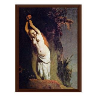 Andromeda. By Rembrandt Van Rijn  (Best Quality) Post Card