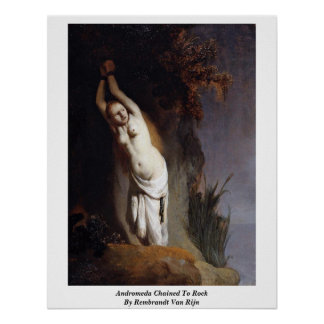 Andromeda Chained To Rock By Rembrandt Van Rijn Print
