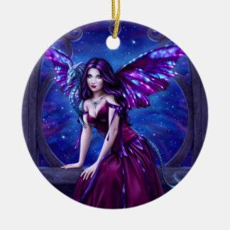 Andromeda Dragon Art Cermic Oval Ornament
