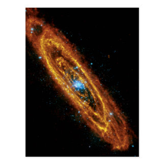 Andromeda en radiografía e infrarrojo postal
