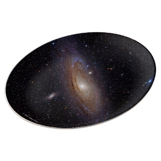 Andromeda Galaxy and M31 or NGC224 Porcelain Plate