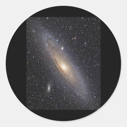 Andromeda Galaxy Classic Round Sticker