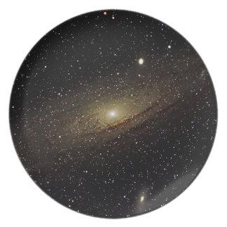 Andromeda Galaxy Dinner Plate