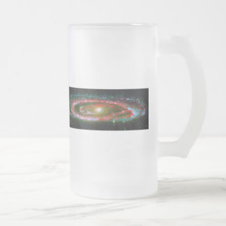 Andromeda Galaxy Frosted Glass Beer Mug