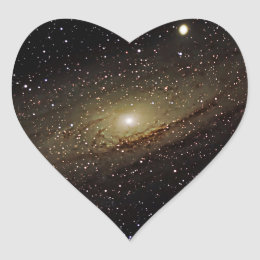 Andromeda Galaxy Heart Sticker
