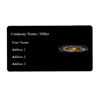 Andromeda Galaxy Shipping Label
