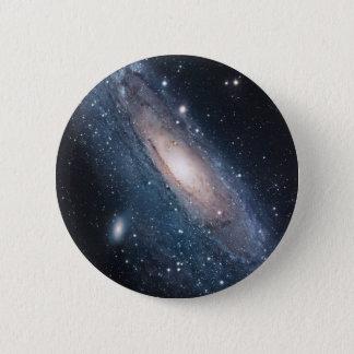 andromeda galaxy milky way cosmos universe pinback button