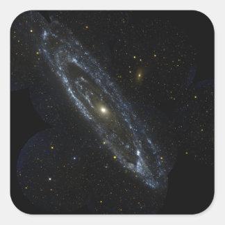 Andromeda Galaxy Square Sticker