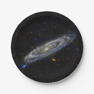 Andromeda Galaxy Starry Sky Paper Plate