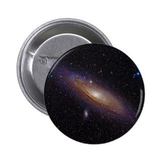 Andromeda Galaxy taken with hydrogen alpha filter 2 Inch Round Button