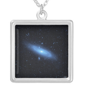 Andromeda galaxy's older stellar population silver plated necklace