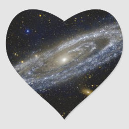 andromeda heart sticker