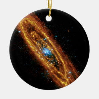 Andromeda in X-Ray and Infrared Ceramic Ornament