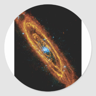 Andromeda in X-Ray and Infrared Classic Round Sticker