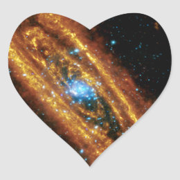 Andromeda in X-Ray and Infrared Heart Sticker