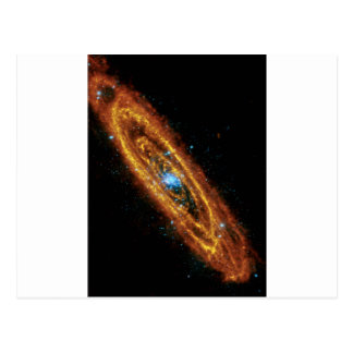 Andromeda in X-Ray and Infrared Postcard
