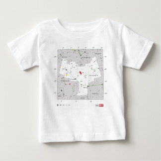 Andromeda Star System Constellation Chart Baby T-Shirt