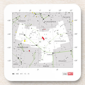 Andromeda Star System Constellation Chart Coaster