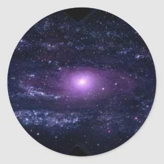 Andromeda Ultraviolet Round Stickers