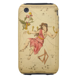 Andromeda - Vintage Astronomical Star Chart Image Tough iPhone 3 Case