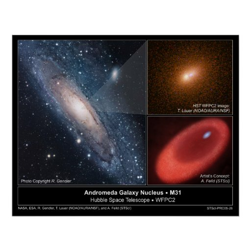 AndromedaGalaxyNucleus-M31-2005-26 Póster