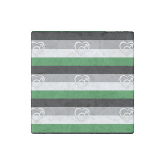 ANDROPHILIA FLAG PATTERN STONE MAGNET