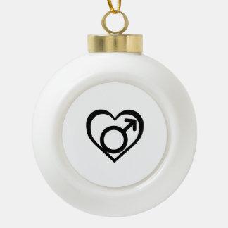 ANDROPHILIA SYMBOL -.png Ceramic Ball Christmas Ornament