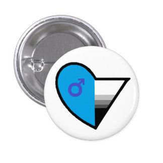 Androromantic Demisexual Button