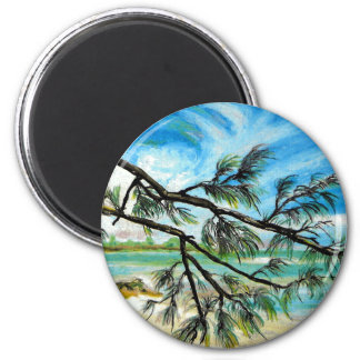 Andros Island, Bahamas 2 Inch Round Magnet