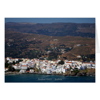 Andros town - Andros Stationery Note Card