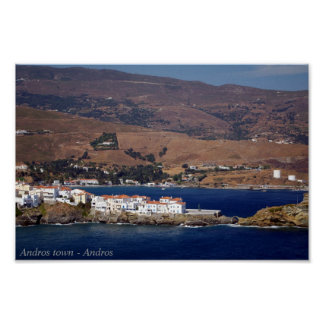 Andros town - Andros Posters