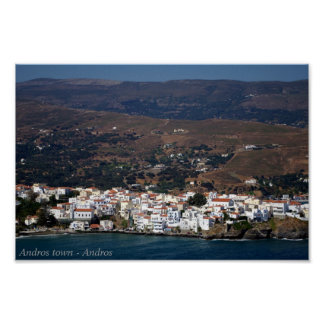 Andros town - Andros Print