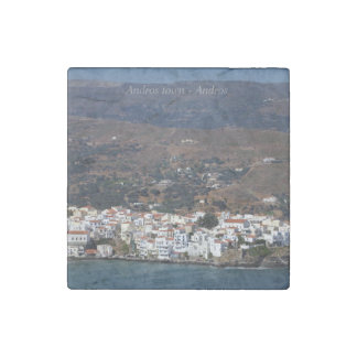 Andros town - Andros Stone Magnet