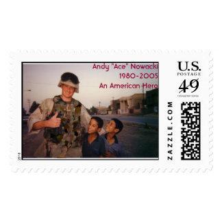 "Andy, Andy ""Ace"" Nowacki1980-2005An American Hero Postage"