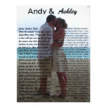 Andy & Ashley, wedding pic with vows Art Photo