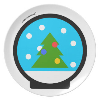 "Andy Awesome®  ""Snow Globe"" plate"