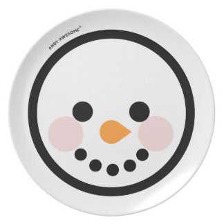 """Andy Awesome®  """"Snow Man"""" plate"""