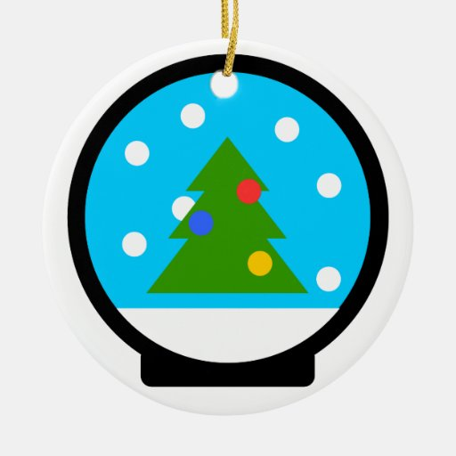 "Andy Awesome® Xmas Ornaments ""Snow Globe"""