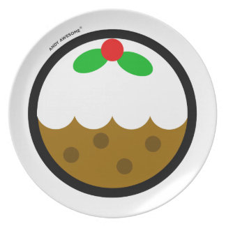 "Andy Awesome® ""XMAS Pudding"" plate"