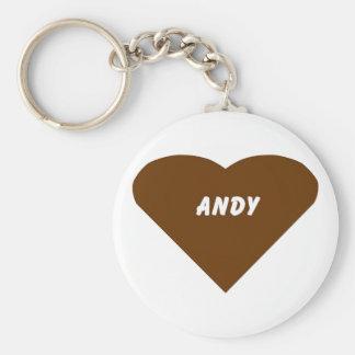 Andy Basic Round Button Keychain