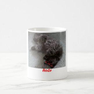 Andy el gato persa taza de café